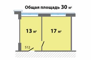 Палладий оф.512 планировка по метражам_