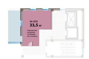 409 оф Альфа на этаже и планировка