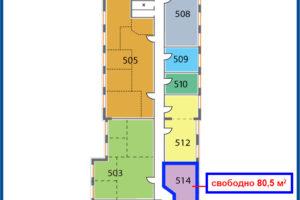 схема на этаже Палладий 514-515_