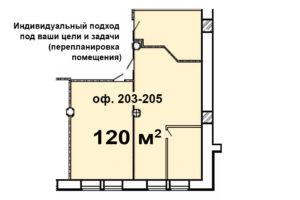планировка Время 203-205 с перегородкой _