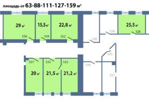 схема на этаже 159 кв м с метражом