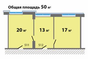 Палладий оф.511-512 планировка метражи