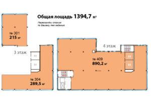 3,4 Эт Альфа 1394,7 кв м планиировка